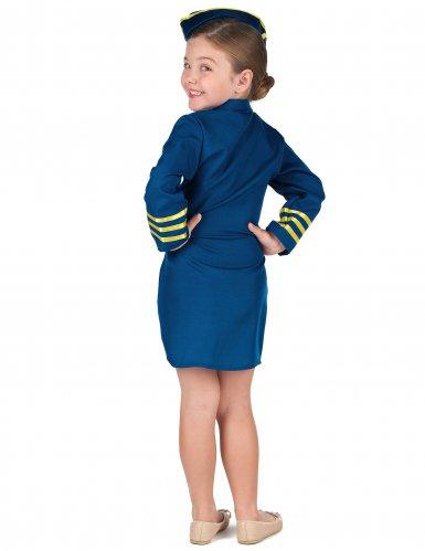 Déguisement uniforme hôtesse de l'air fille-2