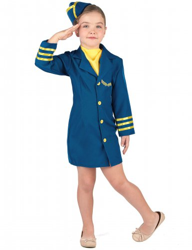 Déguisement uniforme hôtesse de l'air fille
