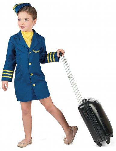Déguisement uniforme hôtesse de l'air fille-1