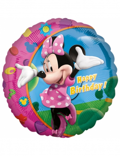 Ballon aluminium Happy Birthday Minnie ™ 43 cm