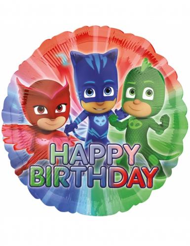 Ballon aluminium Pyjamasques ™ Hapy Birthday 43 cm