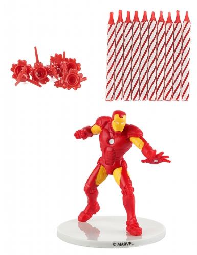 Kit bougies d'anniversaire Iron Man ™