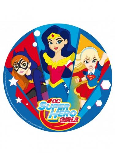 Disque en sucre DC Super Hero Girls™ 20 cm