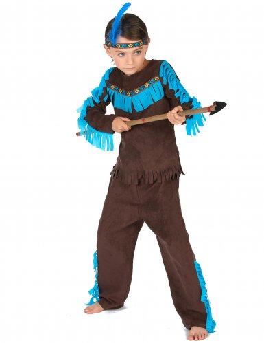 Déguisement indien marron garçon-1