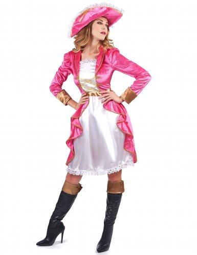 Déguisement pirate baroque rose femme-1