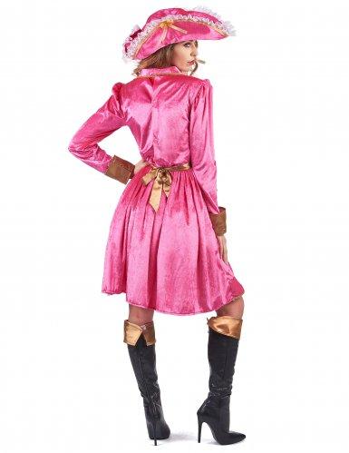 Déguisement pirate baroque rose femme-2