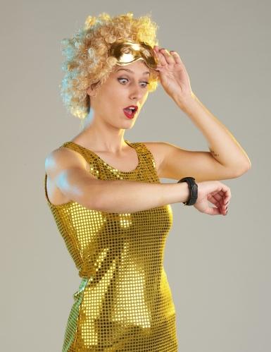 Déguisement Disco doré à sequins femme-3