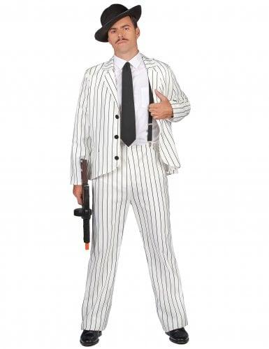déguisement gangster blanc homme
