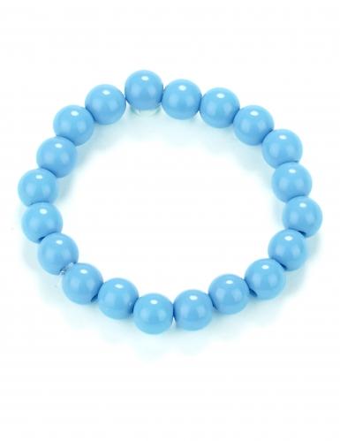 Bracelet perles bleues adulte