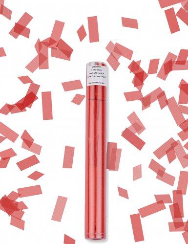 Canon à confettis rectangle rouge 27 cm