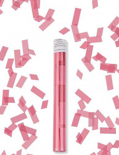 Canon à confettis rectangle fuchsia