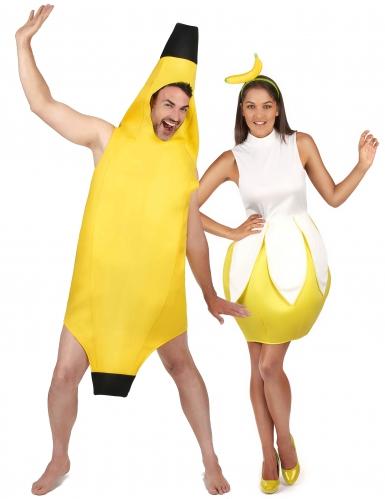 Déguisement de couple banane adulte
