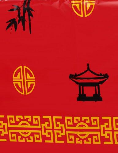 Nappe en plastique Asie rouge 137 x 274 cm-1