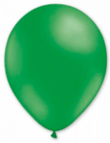 6 Ballons en latex vert foncé 30 cm