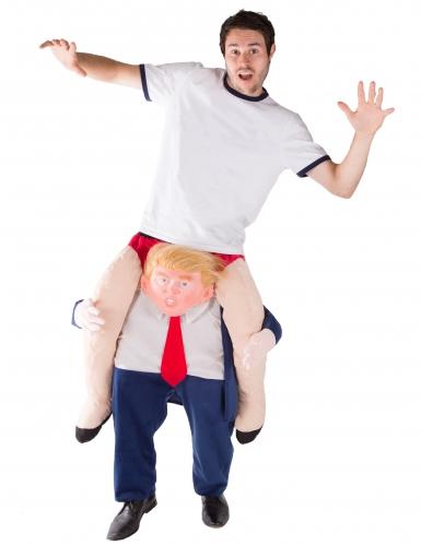 Déguisement homme à dos de président Trump adulte