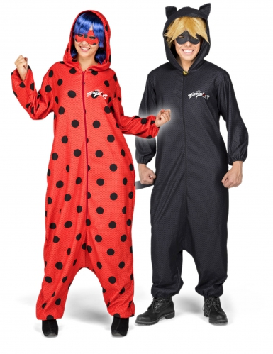 Déguisement combinaison et accessoires Ladybug™ adulte-1