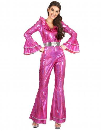 Déguisement disco rose femme