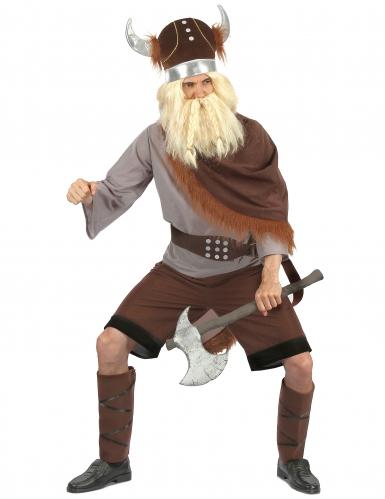 Déguisement viking bicolore homme