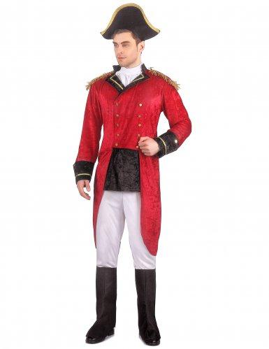 Déguisement Napoléon aspect velours homme