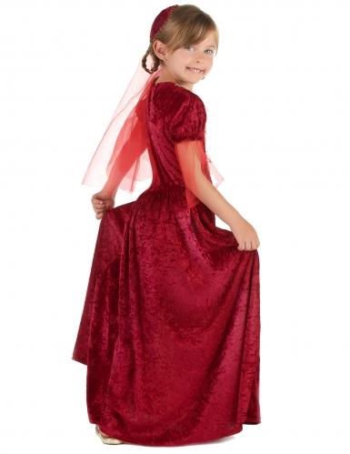 Déguisement comtesse médiévale rouge fille-1