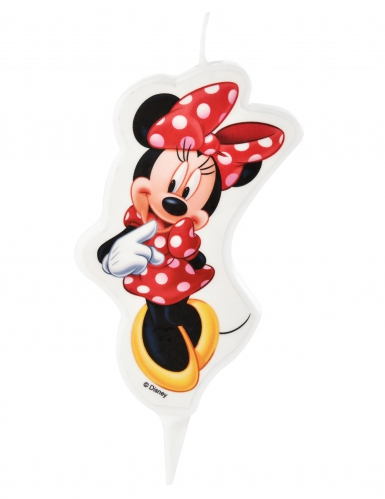 Bougie d'anniversaire Minnie ™ 5,5 x 9 cm