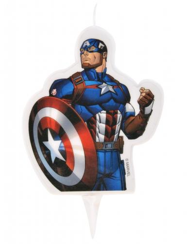 Bougie d'anniversaire Avengers ™ Captain America 6 x 7,3 cm