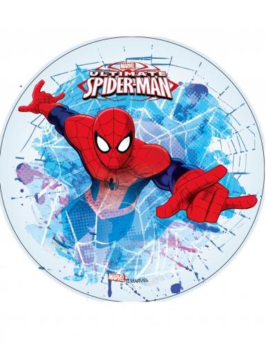 Disque en azyme Ultimate Spiderman™ blanc 21 cm