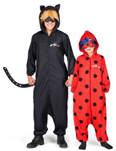 Déguisement de couple Ladybug et Chat noir Miraculous™ père et fille