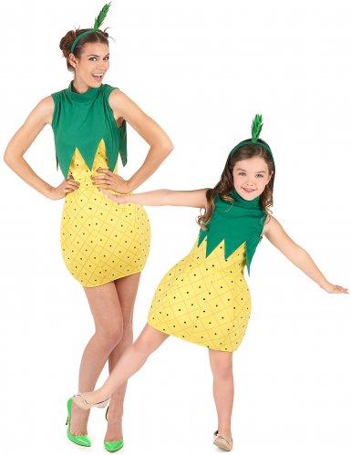 Déguisement de couple fruit ananas mère fille
