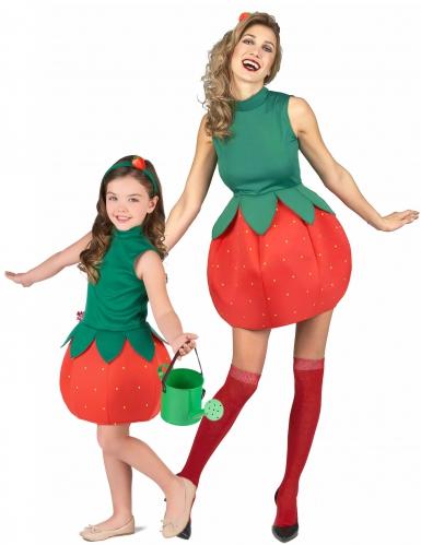 Déguisement de couple fruit fraise mère fille
