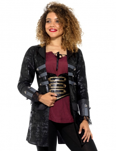 Manteau pirate luxe femme-2