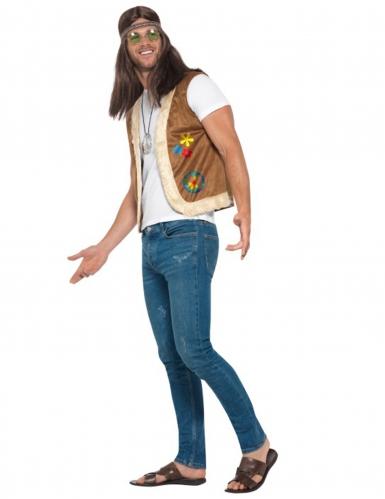 Gilet hippie avec fourrure adulte-2