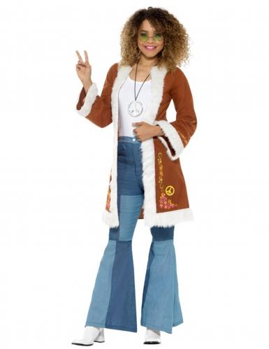 Manteau hippie avec fourrure femme