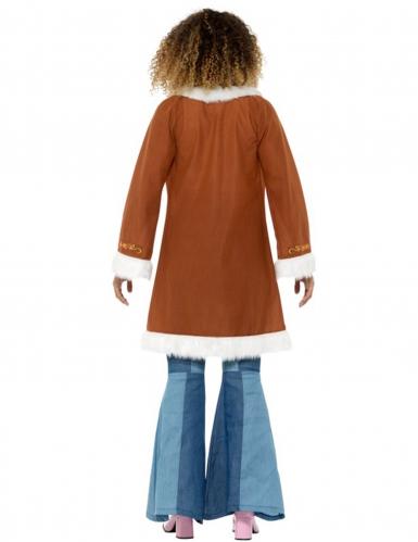 Manteau hippie avec fourrure femme-1