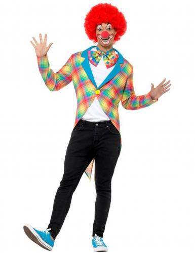 Queue de pie à carreaux clown adulte