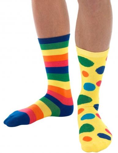 Chaussettes clown multicolore adulte
