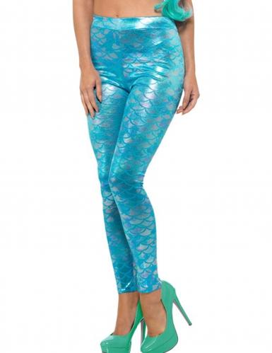 Legging sirène turquoise femme