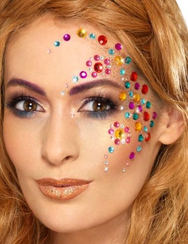 100 Strass pour visages multicolores