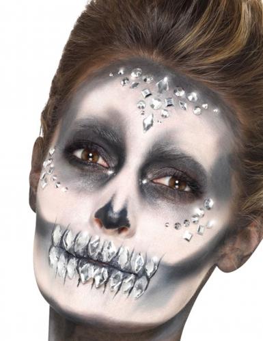 100 Perles pour visages argentées
