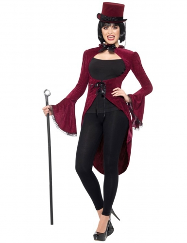 Queue de pie vampire gothique luxe rouge femme