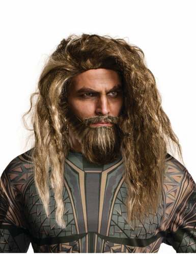 Perruque et barbe Aquaman™ adulte