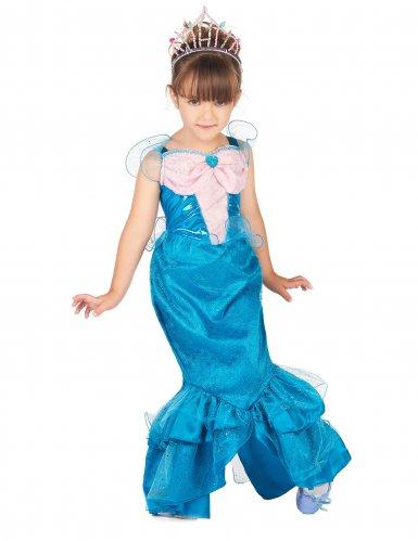 Déguisement de Sirène rose et bleu fille