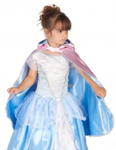 Cape réversible princesse bleue et rose fille-2