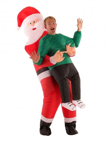 Déguisement homme porté par Père Noël adulte Morphsuits™