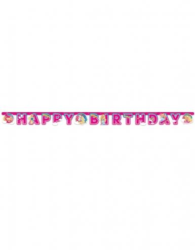 Bannière en papier Happy Birthday Barbie Dreamtopia™ 15 cm x 2 m-1
