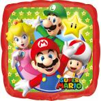 Petit ballon carré aluminium Super Mario™ 23 X 23 cm