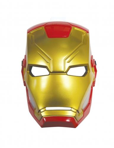 Demi-masque plastique Iron Man™ enfant-1