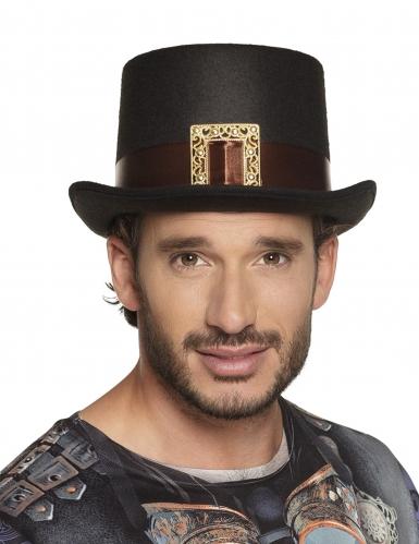 Chapeau haut de forme steampunk avec boucle adulte