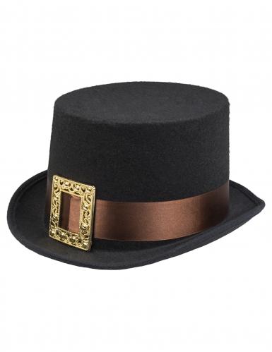 Chapeau haut de forme steampunk avec boucle adulte-1