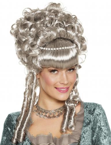 Perruque renaissance grise luxe femme